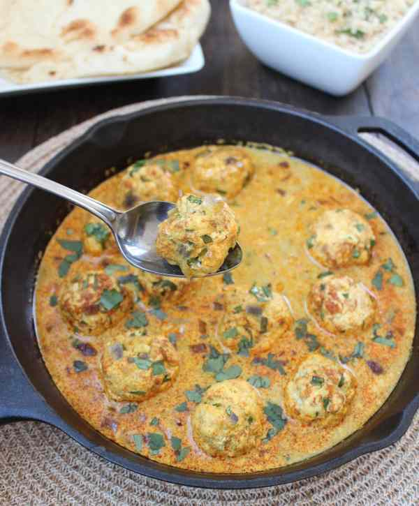 Gluten Free Chicken Curry Meatballs