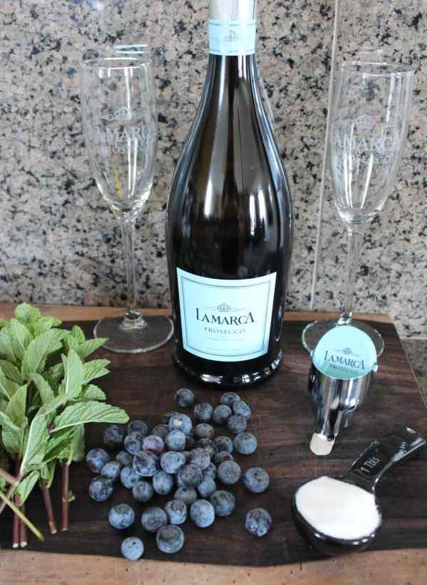 Blueberry Mint Prosecco Sparkler Ingredients