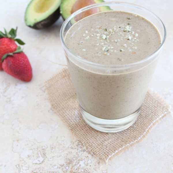 Strawberry Avocado Protein Shake
