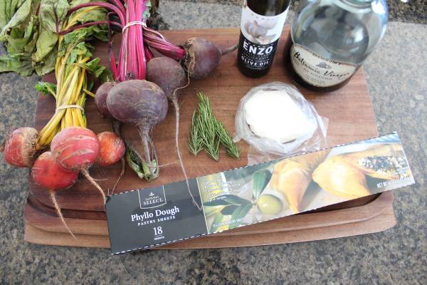 Beet and Burrata Cheese Tart Ingredients