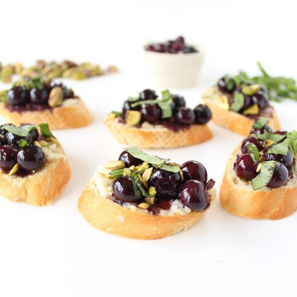 Blueberry Goat Cheese Crostini