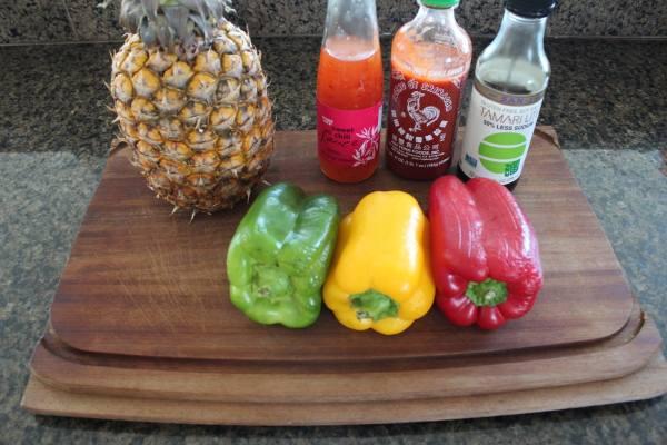 Bell Pepper Pineapple Slaw Ingredients