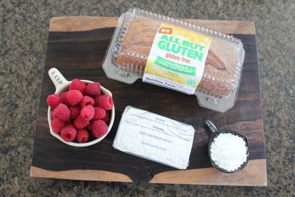 Gluten Free Lemon Raspberry Dessert Jar Ingredients