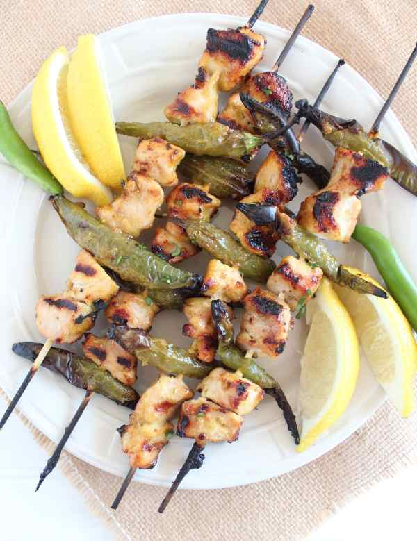 Grilled Jalapeño Honey Chicken Skewers