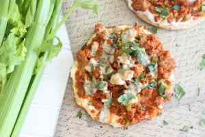 Grilled Buffalo Turkey Flatbread