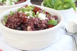 Blueberry Mint Feta Quinoa Salad