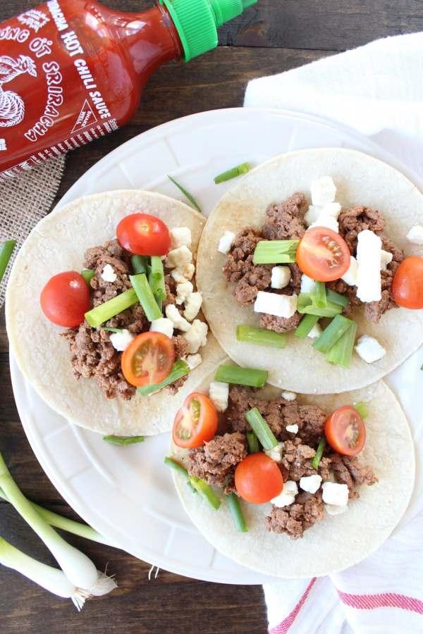 Sriracha Steak Tacos