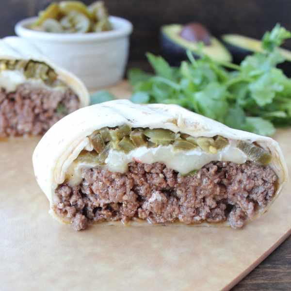 Tortilla Wrapped Jalapeño Cheeseburger