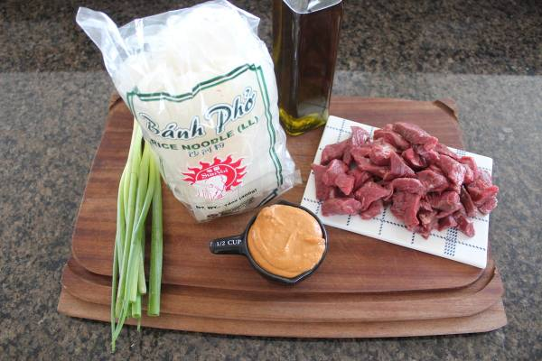 Thai Beef Noodle Bowl Ingredients