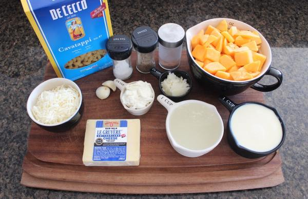 Butternut Squash Mac and Cheese Ingredients