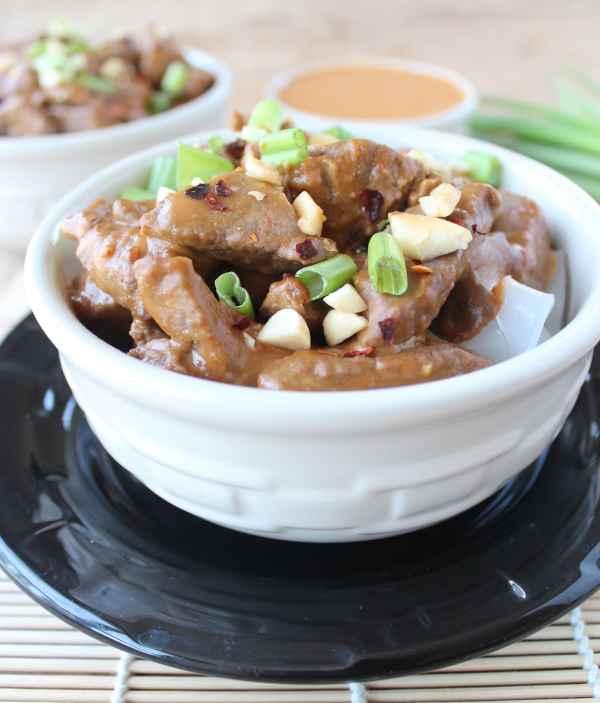 Gluten Free Thai Peanut Beef Noodle Bowl