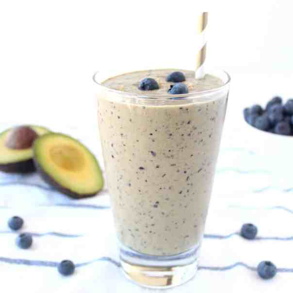 Skin Boosting Blueberry Avocado Smoothie