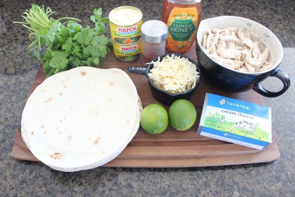 Green Chili Chicken Rolled Taco Ingredients