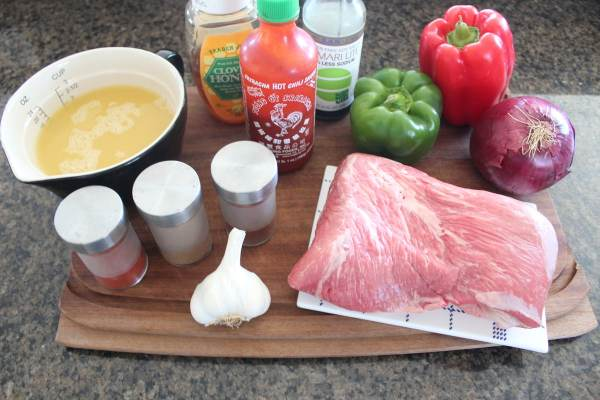 Pineapple Sriracha Tri Tip Steak Taco Ingredients