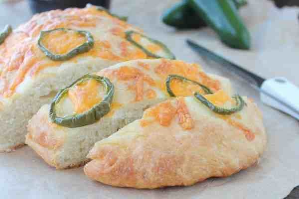 Jalapeño Cheddar Focaccia Bread