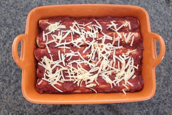 Mushroom Squash Vegetarian Enchiladas Recipe