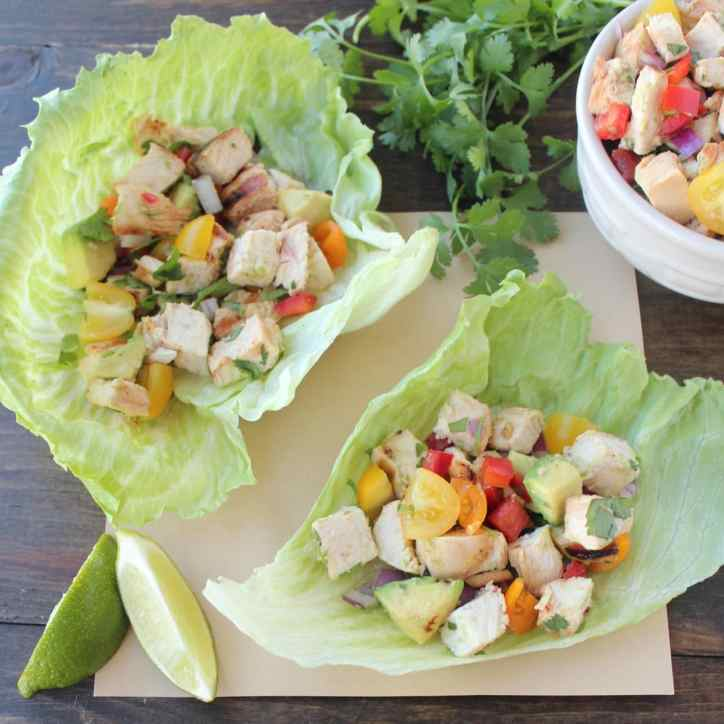 Lettuce Wrapped Chicken Tacos