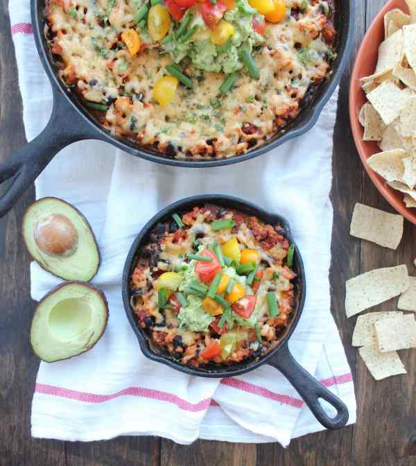 Gluten Free Baked Taco Dip