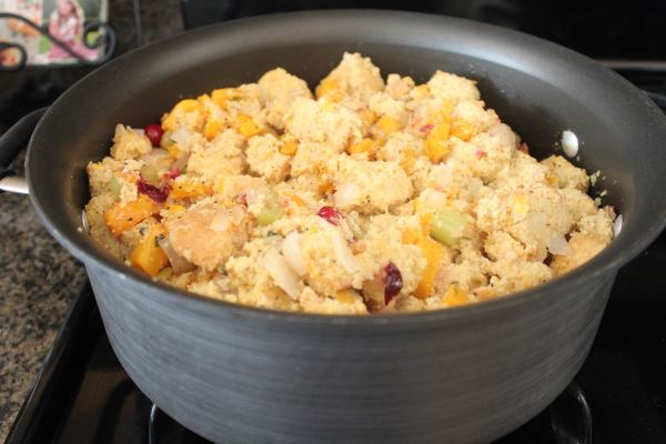 Butternut Squash Cranberry Cornbread Stuffing Recipe