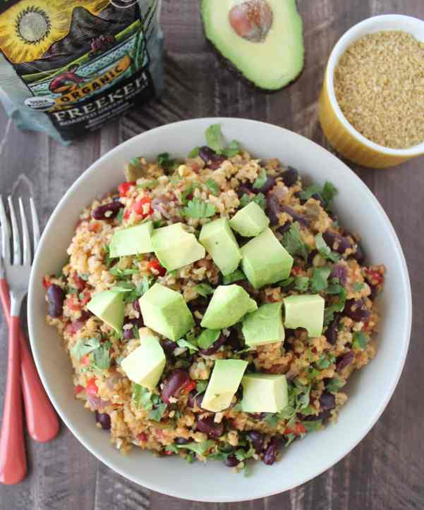 One Pot Mexican Freekeh Recipe