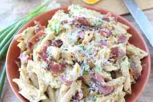 Pumpkin Chicken Alfredo Pasta