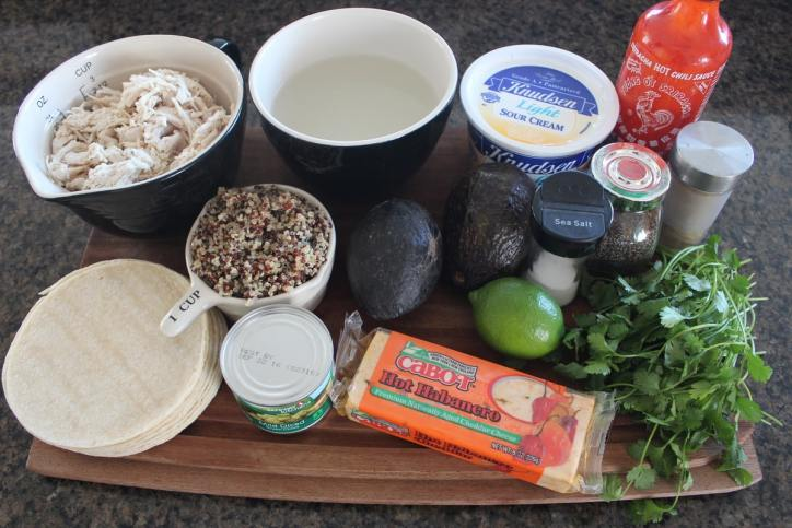Quinoa Chicken Enchilada Casserole Ingredients