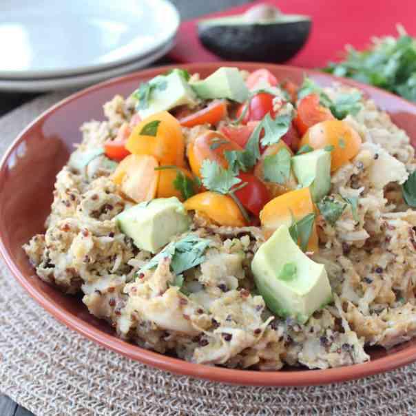 Quinoa Chicken Enchilada Casserole