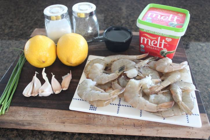 Lemon Butter Garlic Shrimp Ingredients