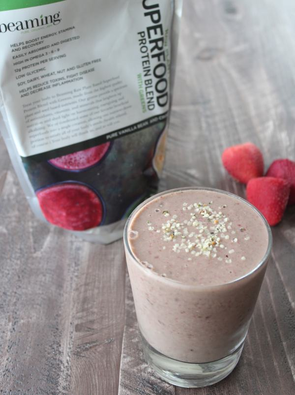 Beaming Energy Boosting Banana Smoothie