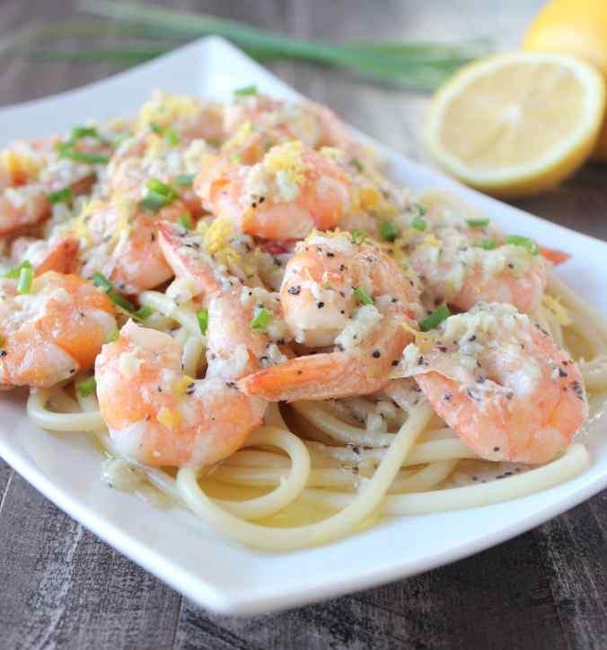Dairy Free Lemon Garlic Butter Shrimp Recipe