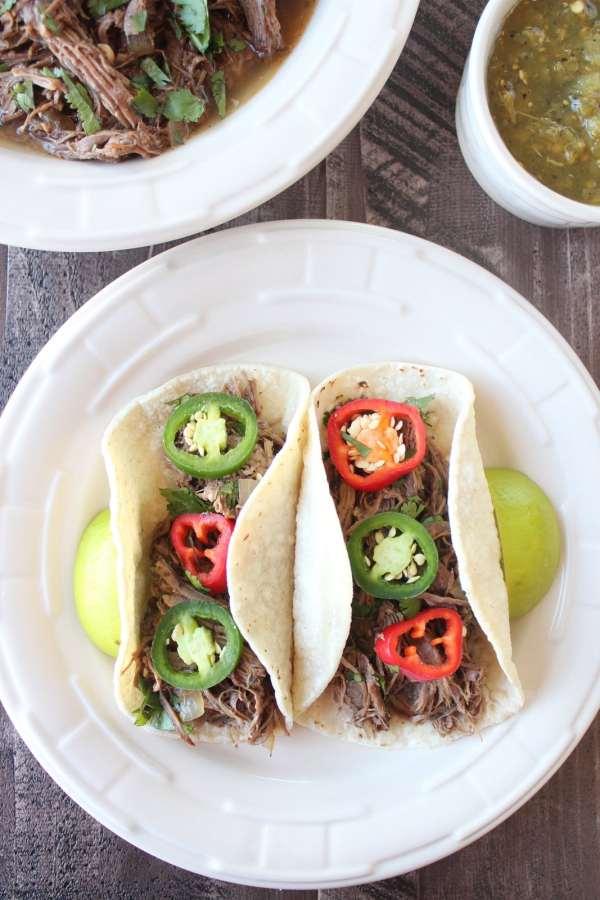 Gluten Free Beef Barbacoa Tacos
