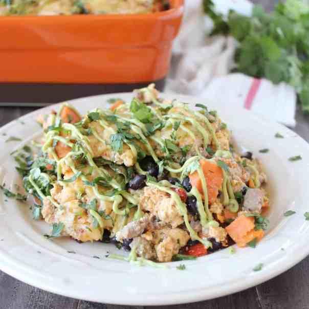 Healthy Mexican Breakfast Casserole