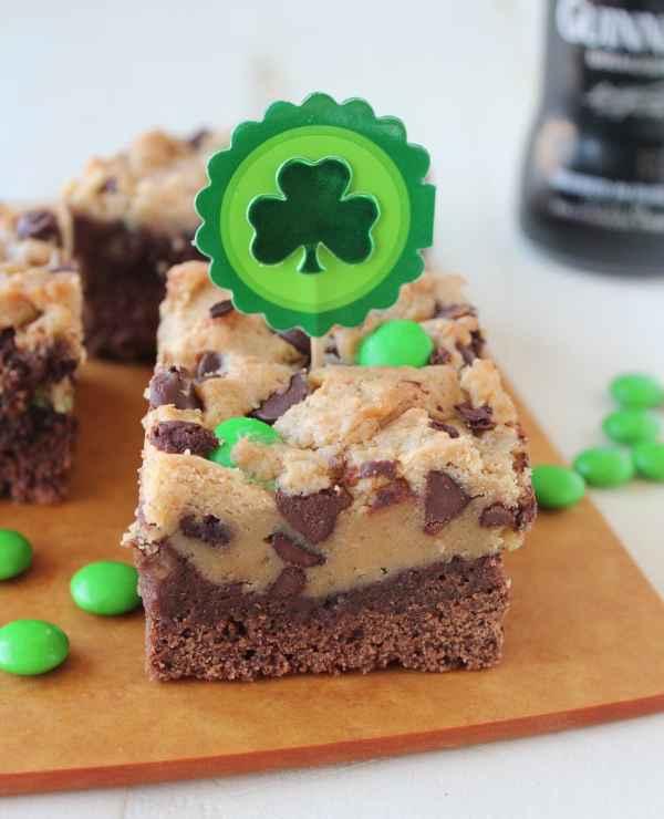 St Patricks Day Guinness Irish Cream Brookies Recipe