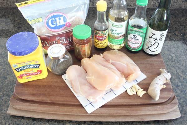 Slow Cooked Korean BBQ Chicken Ingredients