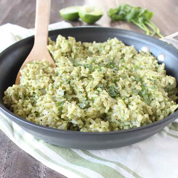 Cilantro Lime Pesto Risotto Recipe
