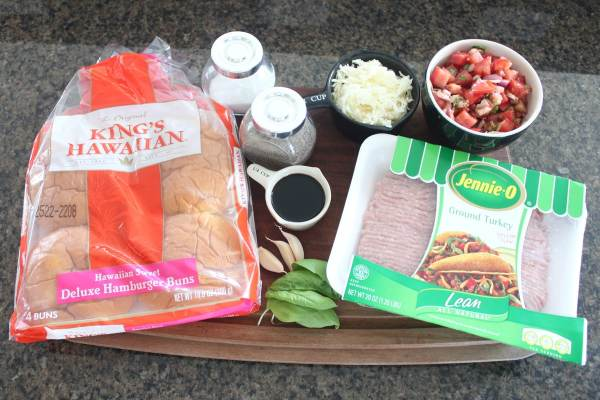 Bruschetta Turkey Burger Ingredients