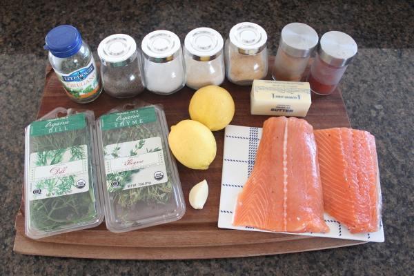 Blackened Grilled Salmon Ingredients