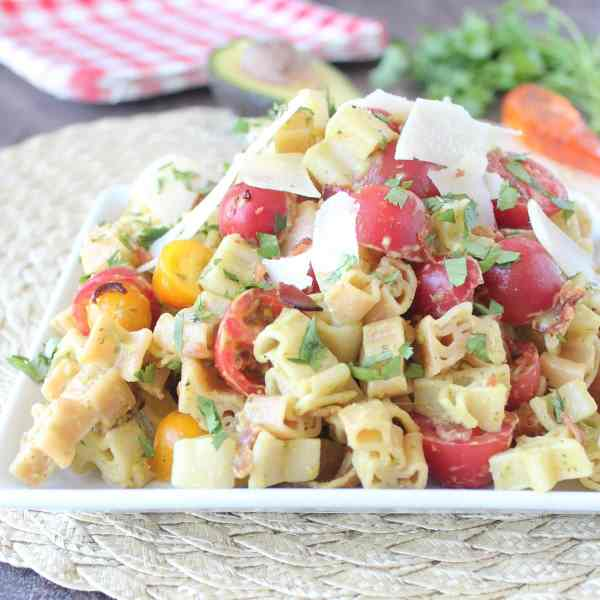 Bacon Tomato Avocado Pasta Salad Recipe