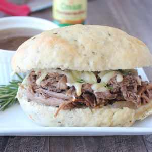 Slow Cooked Rosemary Tri Tip French Dip