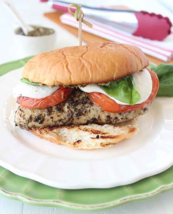 Grilled Caprese Chicken Sandwich Recipe