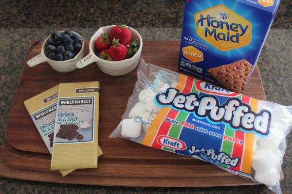 Grilled Berry S'Mores Ingredients