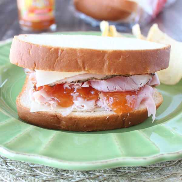 Apricot Ham and Swiss Sandwich