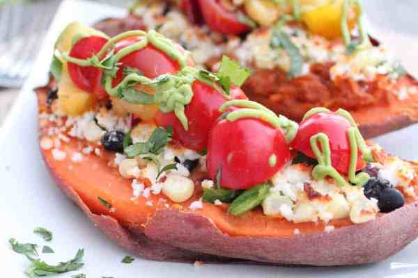Vegetarian Twice Baked Sweet Potatoes