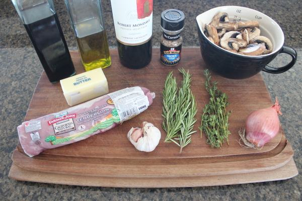 Herb Rubbed Pork Tenderloin with Red Wine Mushroom Sauce Recipe Ingredients