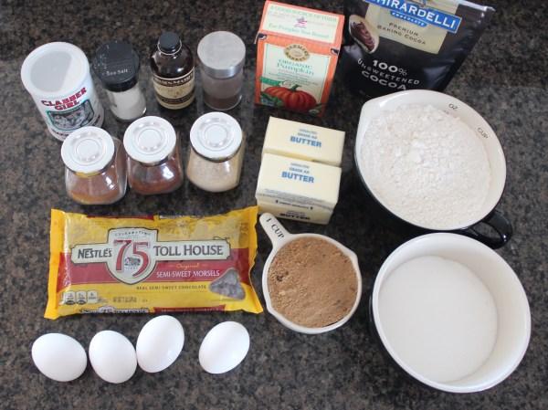 Pumpkin Brookies Ingredients