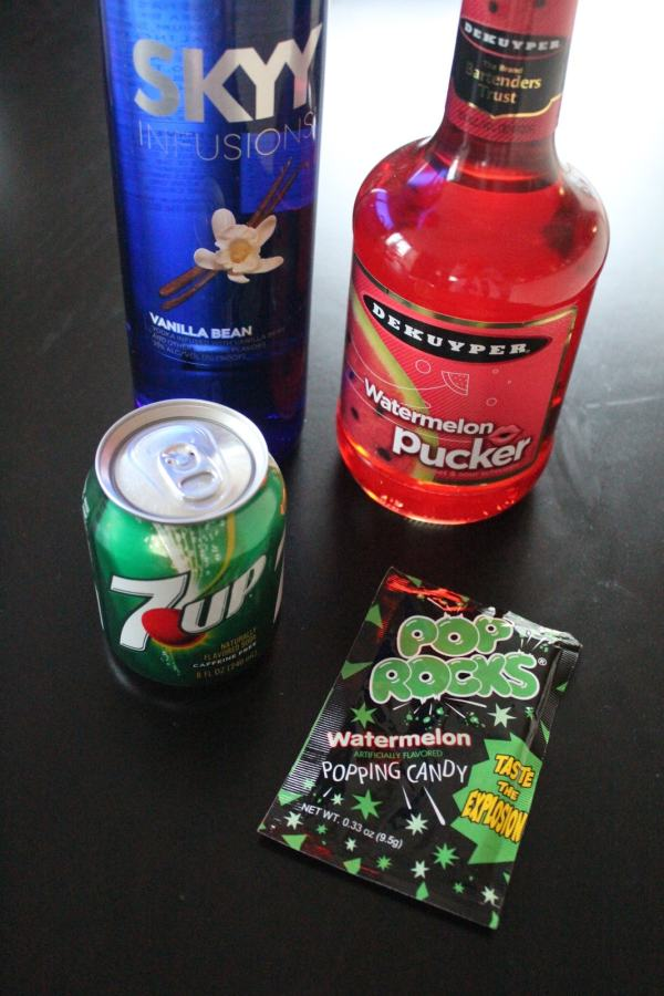 Watermelon Pop Rocks Martini Ingredients