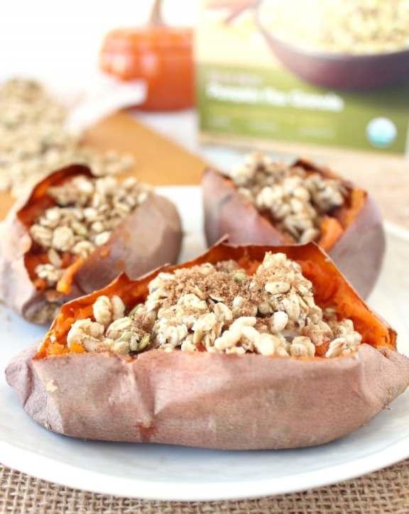 Breakfast Granola Stuffed Sweet Potatoes Recipe