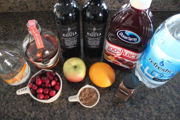 Cranberry Apple Sangria Ingredients
