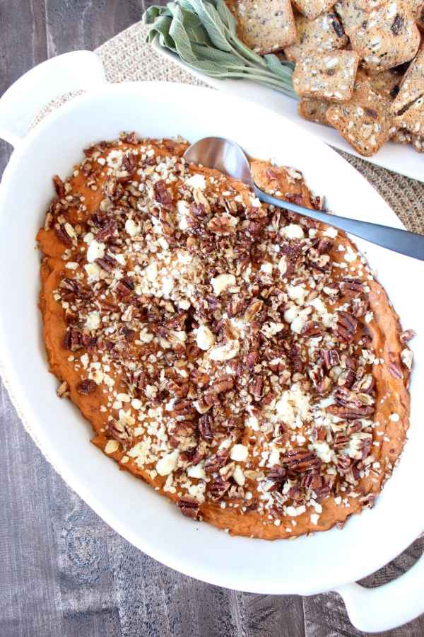 Creamy Sweet Potato & Three Cheese Dip Recipe