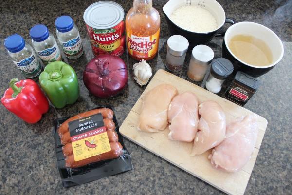 Slow Cooker Jambalaya Recipe Ingredients